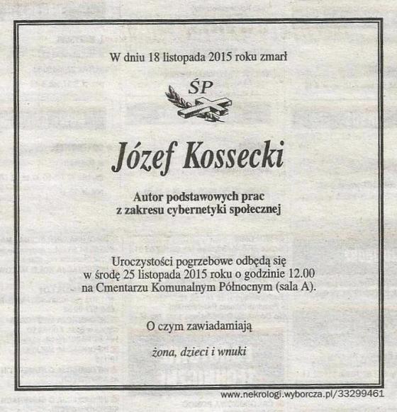 Nekrolog_Józefa Kosseckiego
